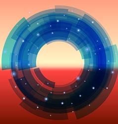 Retro-futuristic background with blue segmented vector