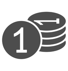 Coins icon from business bicolor set vector