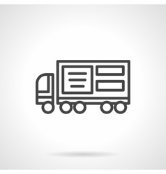Lorry ad black line icon vector