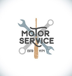 Color motor service sign template vector