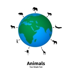 Concept of animal welfare vector