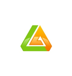 Abstract triangle shape technology logo vector