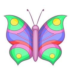 Butterfly with pattern on wing icon cartoon style vector