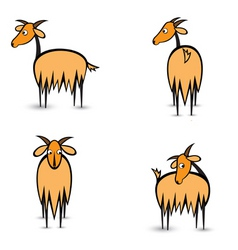 cartoon goats vector image vector image