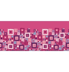 Colorful geometric squares horizontal seamless vector image vector image