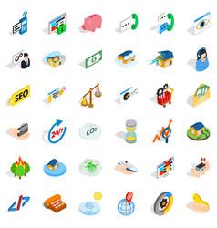 Customer icons set isometric style vector