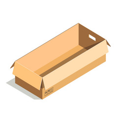 Delivery shipping package square rectangular vector