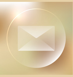 Envelope glassy icon envelope glassy icon vector