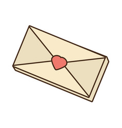 envelope mail message love vector image