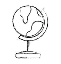 Figure global earth planet desk design vector