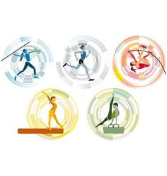 Five sports disciplines copia vector