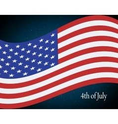 flying the US flag vector image