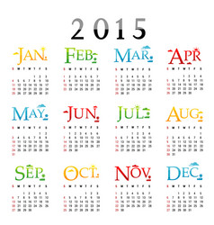 happy new year calendar 2015 vector image vector image