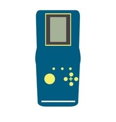 Isolated retro videogame console vector