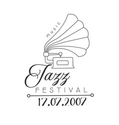 jazz live music concert black and white poster vector image vector image