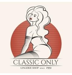 Lingerie Shop Emblem vector image vector image