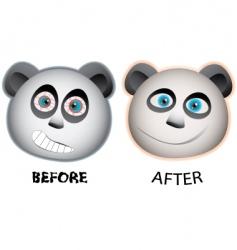 panda faces vector image vector image