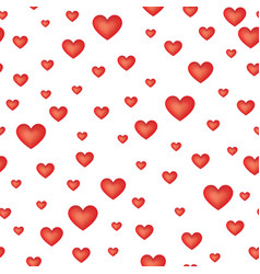 Red love hearts seamless pattern valentine day vector
