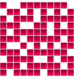 Seamless white and red square pattern abstract 3d vector