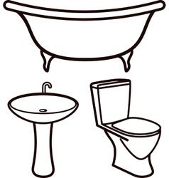 set of bathroom elements vector image