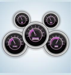 speedometer interface set vector image