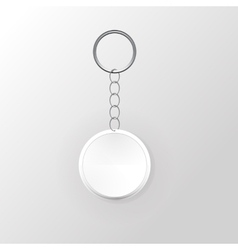 Template Keychain Keys on a Ring with a Chain vector image