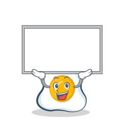 Up board fried egg character cartoon vector