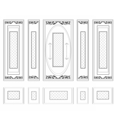 Wall Frames wainscoting ornament vector image vector image