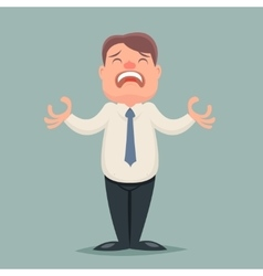 Despair suffer grief businessman emotion character vector