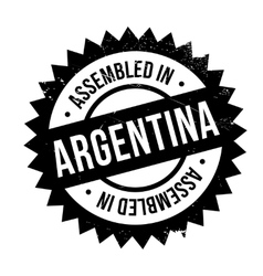 Assembled in argentina rubber stamp vector