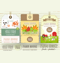 farm price tag label vector image