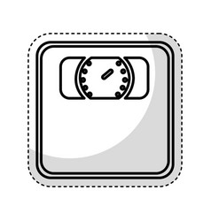 weight scale isolated icon vector image