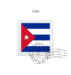 Cuba flag postage stamp vector
