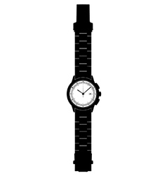 Analogue wristwatch vector image