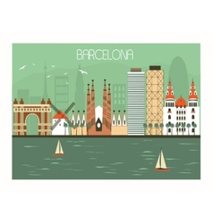 Barcelona Spain vector image