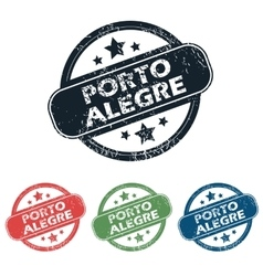Round porto alegre stamp set vector