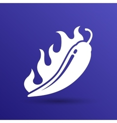 Hot chilli pepper logo vector