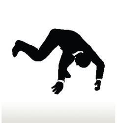 Silhouette of businessman falling vector