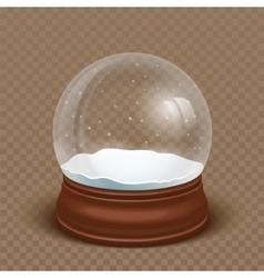 Realistic Snow globe vector image
