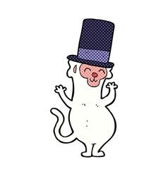 Comic cartoon monkey in top hat vector