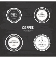 Special coffee labels vector