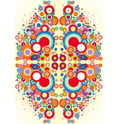 Psychedelic circles vector