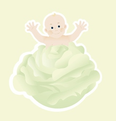 Cabbage patch baby vector