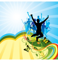 colorful party background vector image