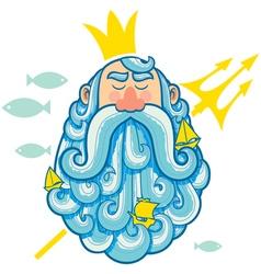 Neptune Portrait vector image