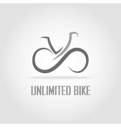 Simple bike logotype vector