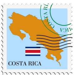 Mail to-from costa rica vector