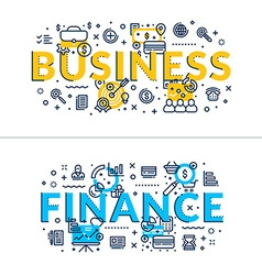 Business and finance headings titles horizontal vector