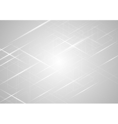 Abstract light grey gradient shiny background vector