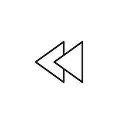 backward icon vector image